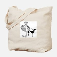 Art Deco Woman Tote Bag