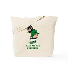 Kiss My Ass I'm Irish Tote Bag
