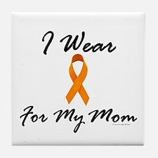I Wear Orange For My Mom 1 Tile Coaster