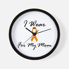 I Wear Orange For My Mom 1 Wall Clock