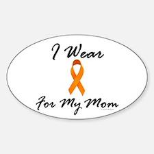 I Wear Orange For My Mom 1 Oval Decal