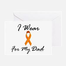 I Wear Orange For My Dad 1 Greeting Card