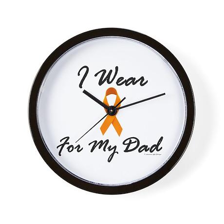 I Wear Orange For My Dad 1 Wall Clock