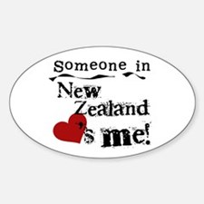 New Zealand Loves Me Oval Decal