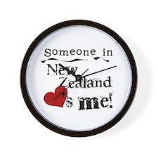 New Zealand Loves Me Wall Clock