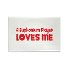 A Euphonium Player Loves Me Rectangle Magnet