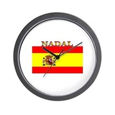 Nadal Spain Spanish Flag Wall Clock