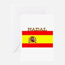 Nadal Spain Spanish Flag Greeting Card
