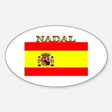Nadal Spain Spanish Flag Oval Decal