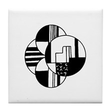 Art Deco Circles Tile Coaster