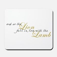 Lion & Lamb Mousepad