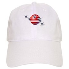 Great Blue Herons In Flight Baseball Cap