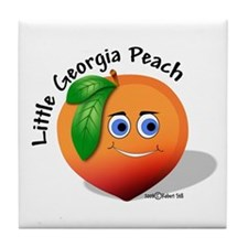 Little Georgia Peach Tile Coaster