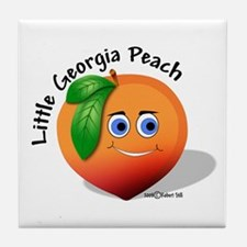 Little Georgia Peach Tile Coaster
