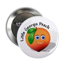 "Little Georgia Peach 2.25"" Button"