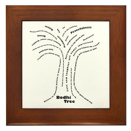 Buddha Bodhi Tree Framed Tile