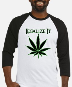 Legalize It Marijuana Baseball Jersey