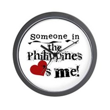 Philippines Loves Me Wall Clock