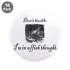"Cute Lewis carroll 3.5"" Button (10 pack)"