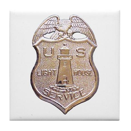 U.S. Lighthouse Service Tile Coaster