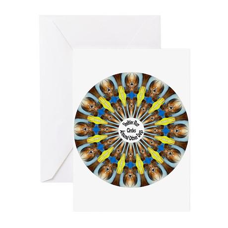 Sheltie Kaleidoscope Greeting Cards (Pk of 20)