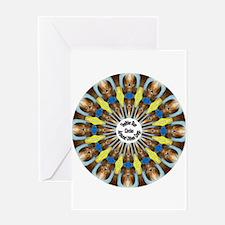 Sheltie Kaleidoscope Greeting Card