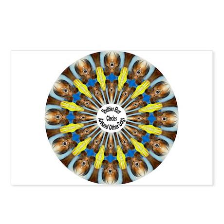 Sheltie Kaleidoscope Postcards (Package of 8)