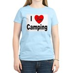 I Love Camping (Front) Women's Pink T-Shirt
