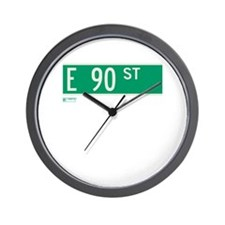 90th Street in NY Wall Clock
