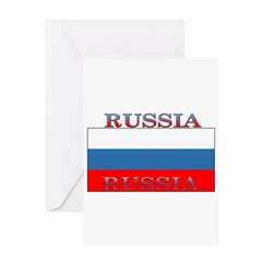 Russia Russian Flag New Design Greeting Card