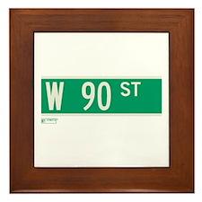 90th Street in NY Framed Tile