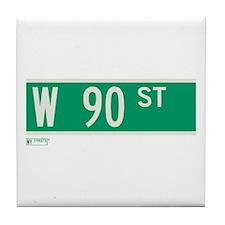 90th Street in NY Tile Coaster