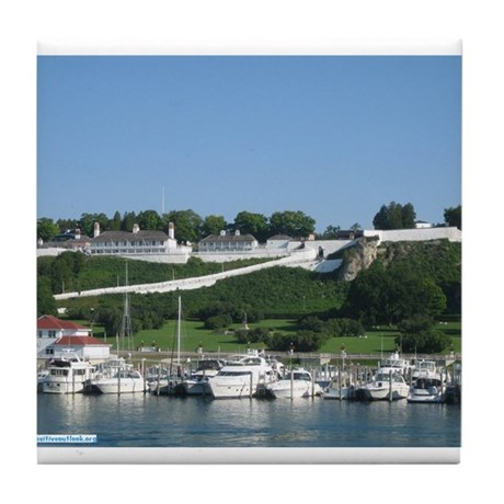 Mackinac Tile Coaster