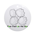 Flyball Box Turn Ornament (Round)