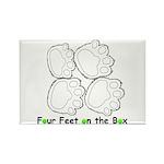 Flyball Box Turn Rectangle Magnet (100 pack)