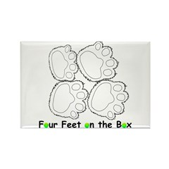 Flyball Box Turn Rectangle Magnet (100 pack)