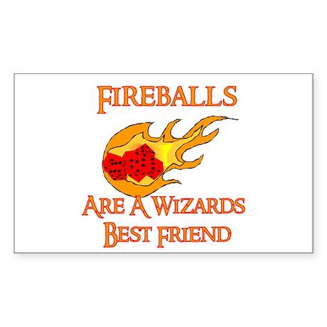 Fireballs Are A Wizards Best Friend Sticker (Recta