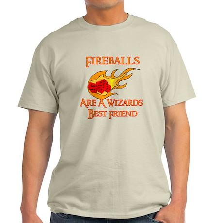 Fireballs Are A Wizards Best Friend Light T-Shirt