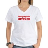 Dredge operator Womens V-Neck T-shirts