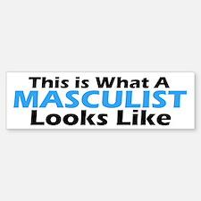 Masculist Bumper Bumper Bumper Sticker