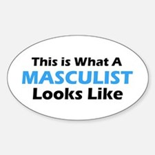 Masculist Oval Decal