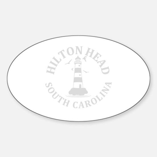 Cute Hilton head Sticker (Oval)