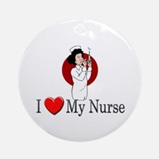 I Love My Nurse Ornament (Round)