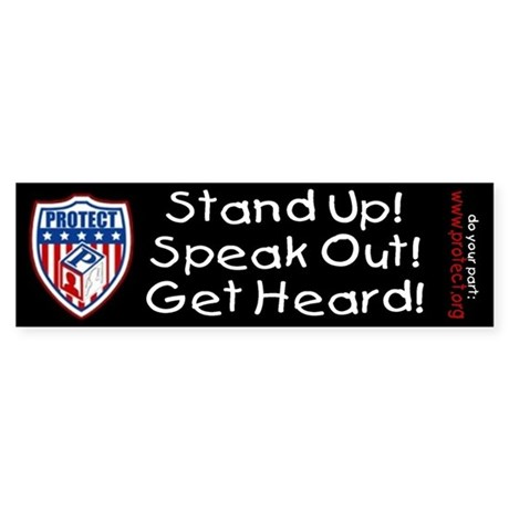 Speak Out To PROTECT Kids Bumper Sticker
