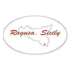 Ragusa Sicily Oval Decal