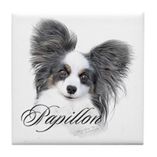Papillon Headstudy2 Tile Coaster