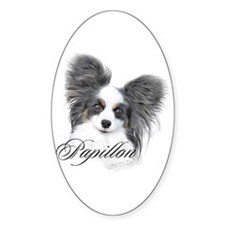 Papillon Headstudy2 Oval Decal