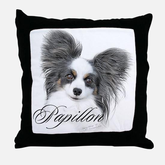 Papillon Headstudy2 Throw Pillow