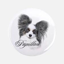 """Papillon Headstudy2 3.5"""" Button"""