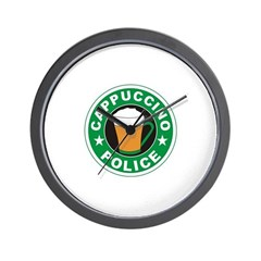 Cappuccino Police Wall Clock